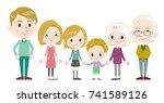 family three generations... | Shutterstock .eps vector #741589126