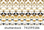 colorful horizontal... | Shutterstock . vector #741595186