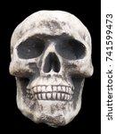 skull on black background   Shutterstock . vector #741599473
