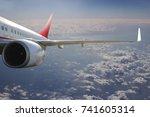 plane in the sky flight travel