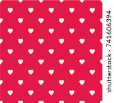 pattern with hearts. flat... | Shutterstock .eps vector #741606394