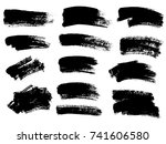 painted grunge stripes set.... | Shutterstock .eps vector #741606580