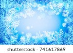 2018 new year on ice frosted...   Shutterstock .eps vector #741617869