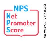 nps  or net promoter score.... | Shutterstock .eps vector #741618733