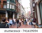 amsterdam  holland   august 17  ... | Shutterstock . vector #741619054