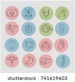 internal human organs | Shutterstock .eps vector #741619603