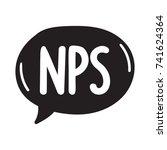 nps  abbreviation net promoter...   Shutterstock .eps vector #741624364