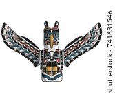 native american eagle totem... | Shutterstock .eps vector #741631546