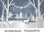 christmas vector concept with... | Shutterstock .eps vector #741633970