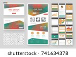 website template  one page... | Shutterstock .eps vector #741634378