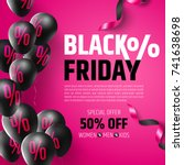 black friday sale poster by... | Shutterstock .eps vector #741638698