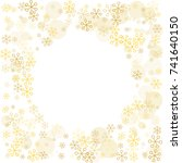 round frame or border christmas ... | Shutterstock .eps vector #741640150