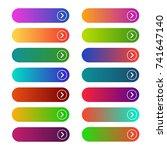 empty web buttons. modern... | Shutterstock .eps vector #741647140