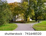beautiful autumn landscape  ... | Shutterstock . vector #741648520