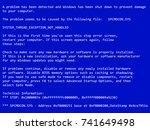 blue screen of death.  bsod ... | Shutterstock .eps vector #741649498