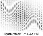 abstract halftone wave dotted... | Shutterstock .eps vector #741665443