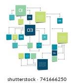 flow chart infographic. | Shutterstock .eps vector #741666250