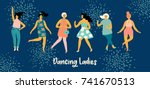 vector illustration of dancing... | Shutterstock .eps vector #741670513