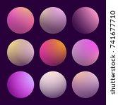 modern 3d gradient set with...