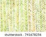 watercolor herringbone pattern   Shutterstock . vector #741678256
