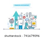 financial accountant. financial ... | Shutterstock .eps vector #741679096