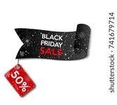 black friday. banner layout for ... | Shutterstock .eps vector #741679714