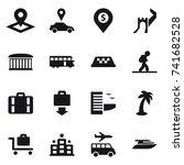 16 vector icon set   pointer ... | Shutterstock .eps vector #741682528