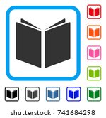 open book icon. flat gray...