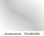 abstract halftone wave dotted...   Shutterstock .eps vector #741684358