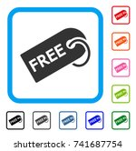 free tag icon. flat gray iconic ...