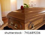 funeral and mourning concept  ... | Shutterstock . vector #741689236
