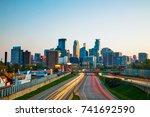 downtown minneapolis  minnesota ...   Shutterstock . vector #741692590