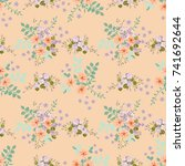simple cute pattern in small... | Shutterstock .eps vector #741692644