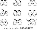 cartoon eyes in vector | Shutterstock .eps vector #741693790
