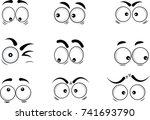 cartoon eyes in vector | Shutterstock .eps vector #741693790