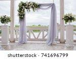 exquisite wedding decoration... | Shutterstock . vector #741696799