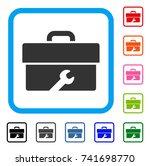 toolbox icon. flat grey iconic...