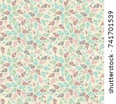 beautiful seamless pattern with ... | Shutterstock .eps vector #741701539