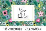 vector adorable template with... | Shutterstock .eps vector #741702583