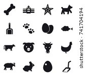16 vector icon set   starfish ...   Shutterstock .eps vector #741704194