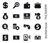 16 vector icon set   dollar ... | Shutterstock .eps vector #741704599