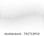 abstract halftone wave dotted... | Shutterstock .eps vector #741713914