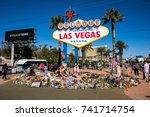 las vegas  nevada   october 15  ... | Shutterstock . vector #741714754
