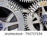 macro photo of tooth wheel...   Shutterstock . vector #741717154