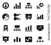 16 vector icon set   target... | Shutterstock .eps vector #741719158
