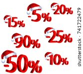 3d discount labels with santa... | Shutterstock .eps vector #741722479