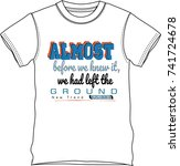 t shirt  temlate graphic  text... | Shutterstock .eps vector #741724678