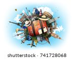 travel and tourism | Shutterstock . vector #741728068