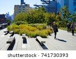 new york  usa   21 october 2017....   Shutterstock . vector #741730393