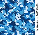 camouflage pattern background... | Shutterstock .eps vector #741731020
